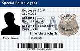 Dienstausweis Special Police Agent