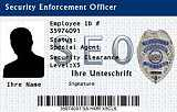 Dienstausweis Security Enforcement Officer