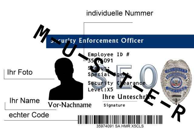 Bild Nr. 2 Dienstausweis Special Police Agent