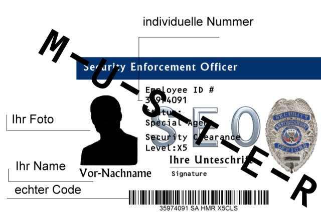Bild Nr. 2 Dienstausweis Security Enforcement Officer