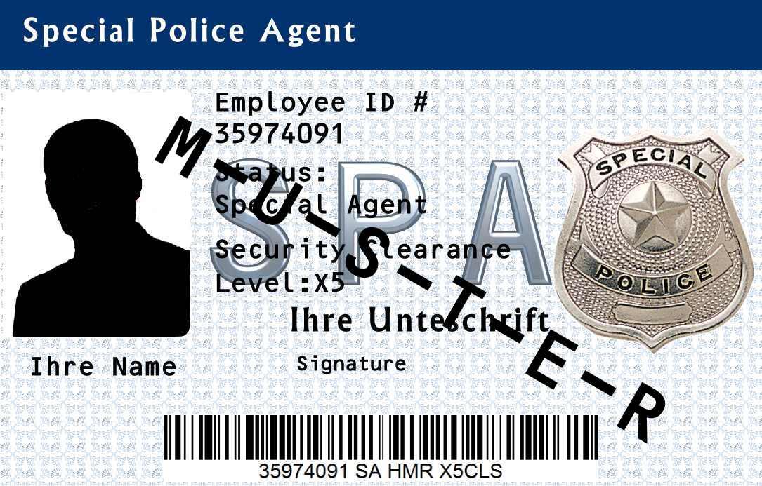 Dienstausweis Special Police Agent