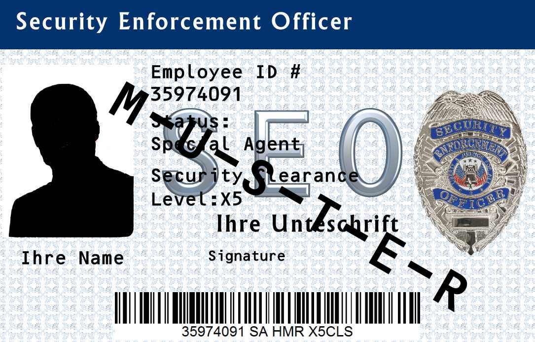 Dienstausweis Security Enforcement Officer