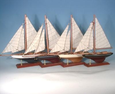 Segelboot 33x35cm