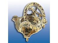 Bild Nr. 2 Messing-Sonnenuhr mit Kompass