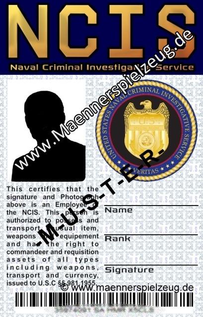 Dienstausweis NAVY CIS (NCIS)