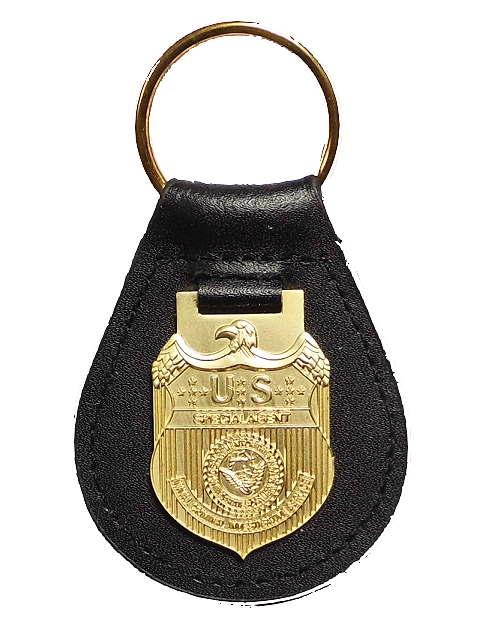NCIS Dienstmarke auf Lederpatch Abb. Nr 1