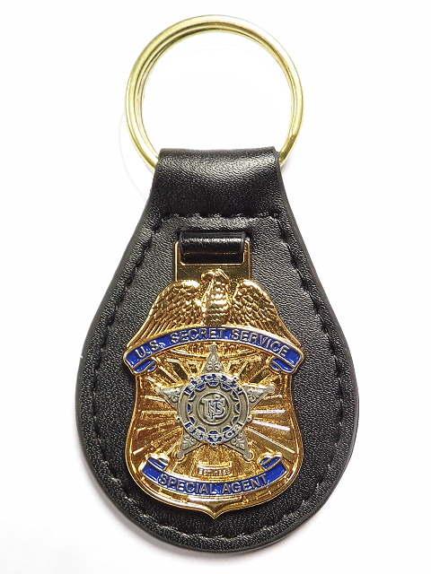 Secret Service Badge auf Leder-Patch