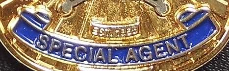Bild Nr. 4 Secret Service Badge auf Leder-Patch