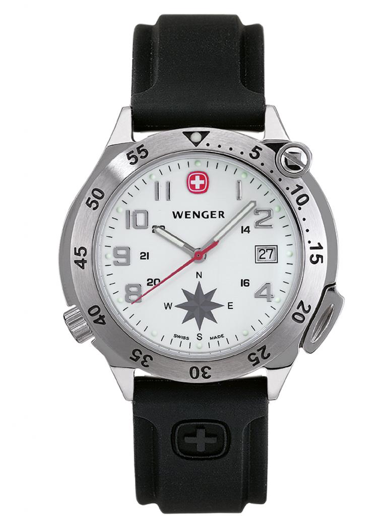 Kompass-Uhr Wenger Compass Navigator Herren Armbanduhr
