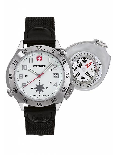 Bild Nr. 2 Kompass-Uhr Wenger Compass Navigator Herren Armbanduhr