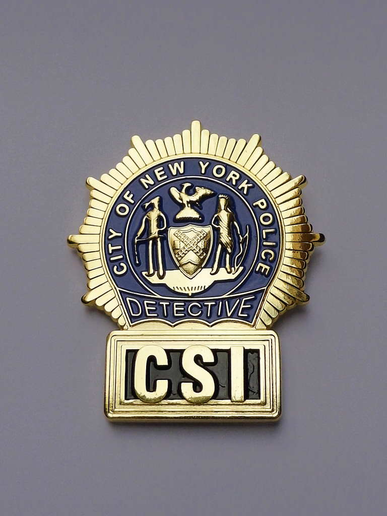 CSI New York Police DETECTIVE BADGE