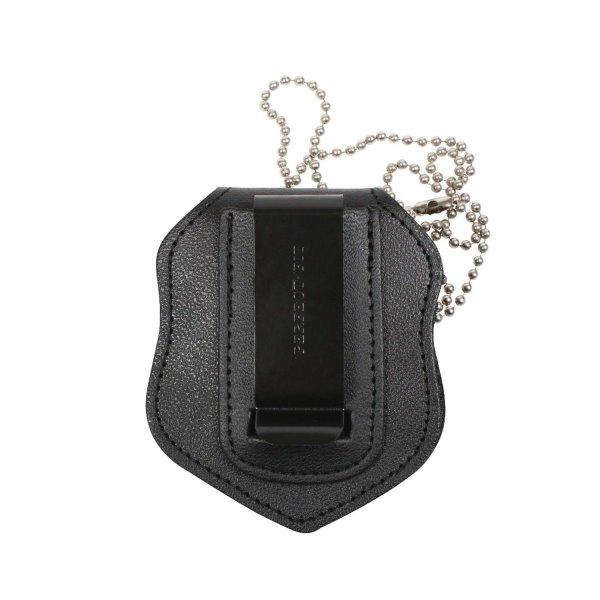 Bild Nr. 2 Leder-Badge-Holder mit Kette und Gürtel-Clip