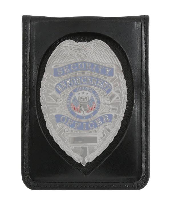 Leder-Badge-Holder mit Ausweishülle und Kette