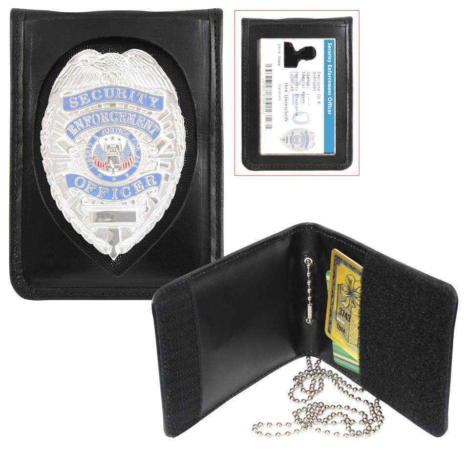 Bild Nr. 2 Leder-Badge-Holder mit Ausweishülle und Kette