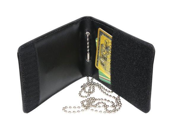Bild Nr. 4 Leder-Badge-Holder mit Ausweishülle und Kette
