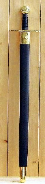 Bild Nr. 3 Schaukampf-Kreuzritterschwert graviert