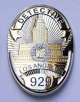 LA Police DETECTIVE BADGE