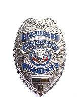 Dienstmarke Security Enforcement Officer Metall  Badge