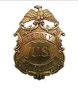 US Marshal Badge gold mit Adler