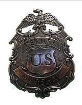 US Marshal Badge silber mit Adler